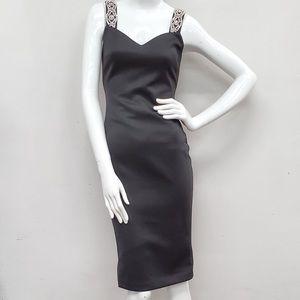 Ted Baker Embellished Strap Rhinestone Dress US 4